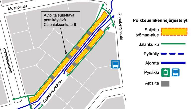 Yötyötä Caloniuksenkatu 6 porttikäytävän kohdalla 30.–31.3.
